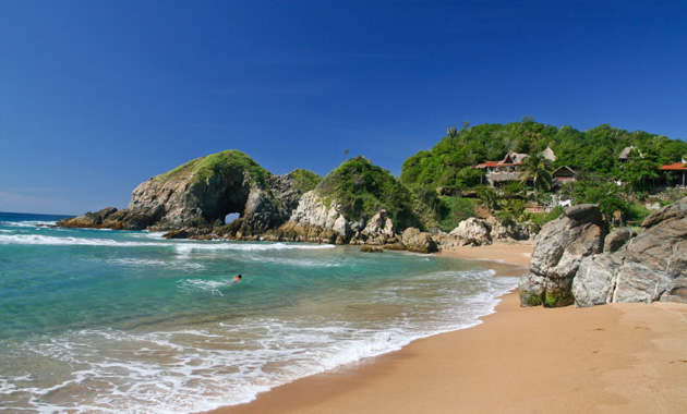 6 Kilometres 4 Miles West Of Puerto Angel Is Playa Zipolite See Poh Lee Tay A Beach Community Best Known For Its Amazing Waves And Hippie Culture