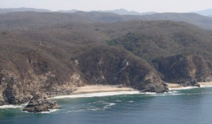 Small beach at Punta Cometa.